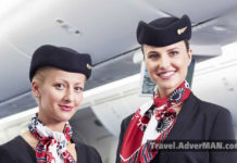 LOT stewardess. Travel AdverMAN