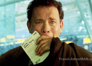 Tom Hanks. The Terminal. Travel AdverMAN