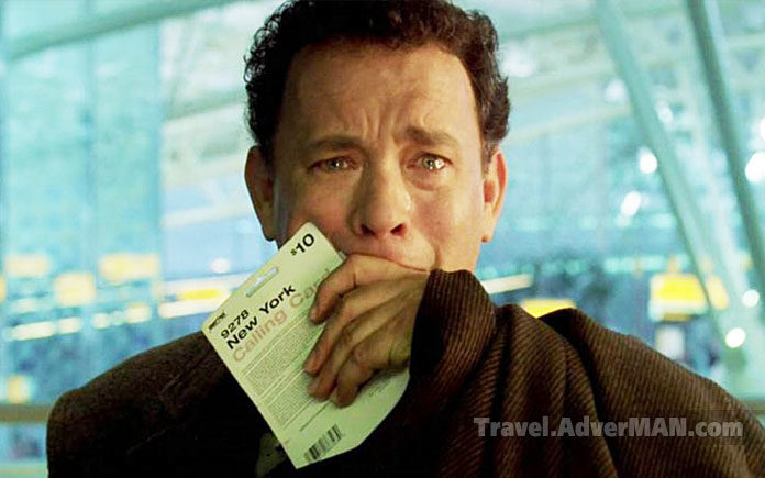 Tom Hanks. The Terminal. Travel AdverMAN
